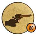 Medaille afslag 80