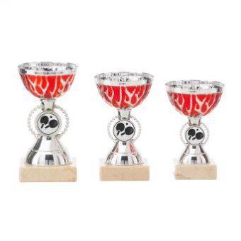 Sportprijs zilver met rood