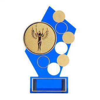 Blauwe sportprijs beeld