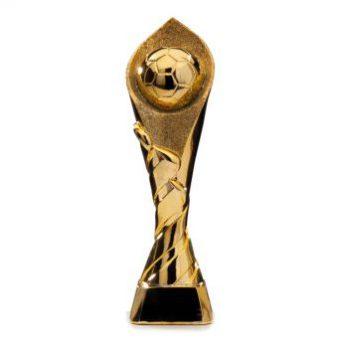 Gouden beker met voetbal