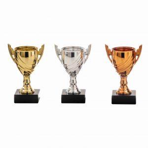 Sportprijzen goud, zilver, brons